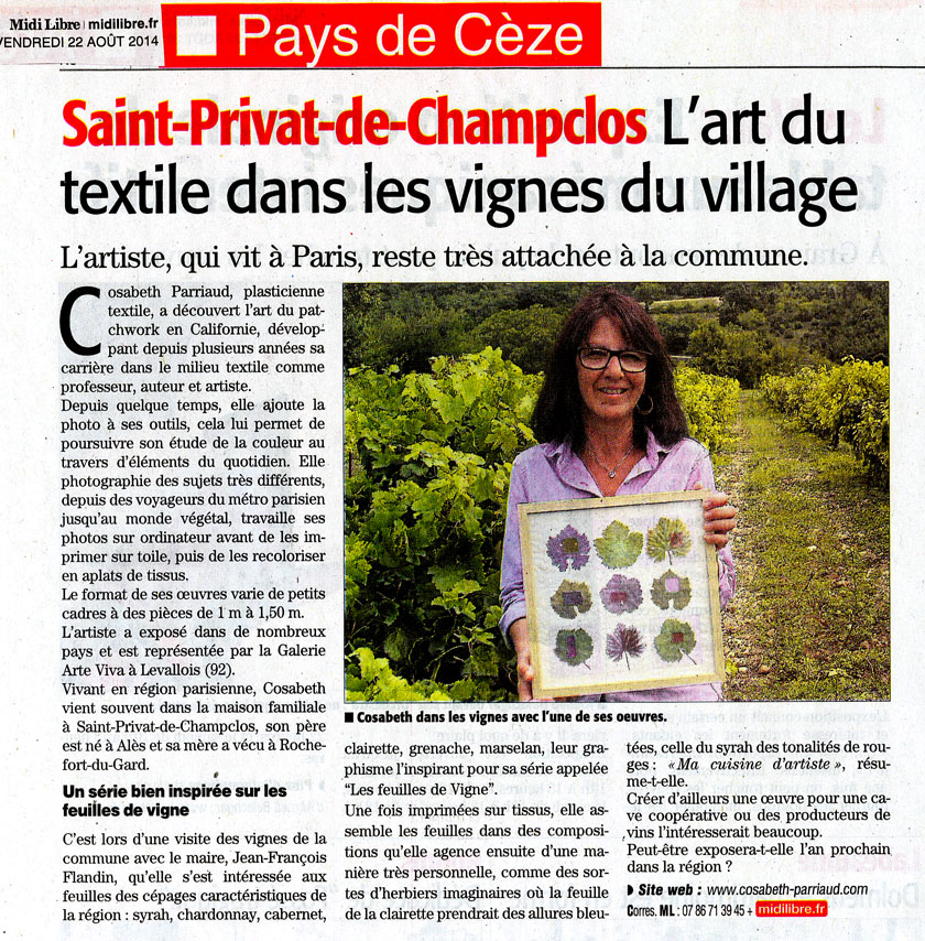 Article vignes
